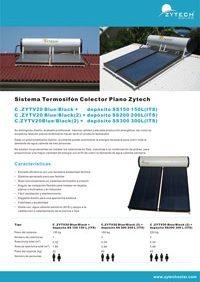 Sistema Termosifón Colector Plano Zytech