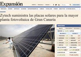 ZYTECH fabrica para ACCIONA placas solares para Canarias