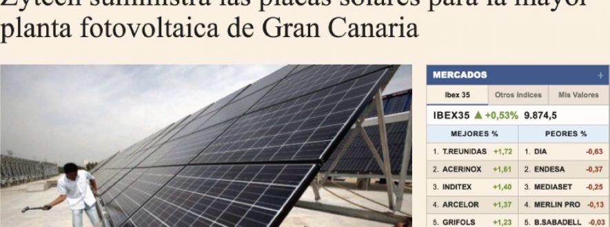 Placas solares en Canarias